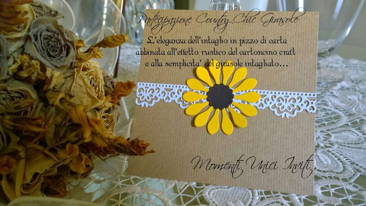 Matrimonio Country Chic Girasoli : Collezione country chic mod sunflower momenti unici inviti